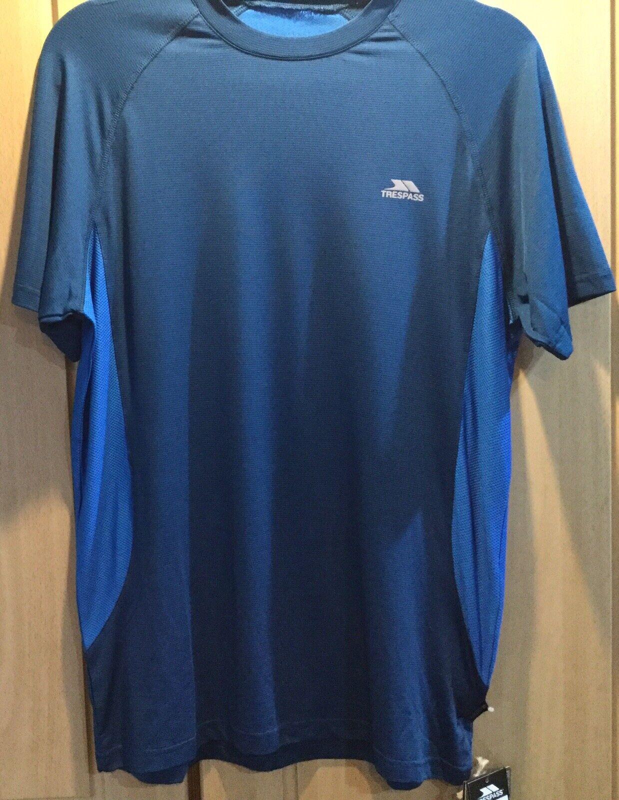 Trespass Blue Activewear/running/fitness T Shirt Size S
