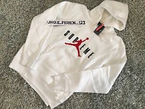 bd4f7396310 SUPREME X NIKE AIR JORDAN V 5 HOODED PULLOVER XL WHITE FW15 X-LARGE ...