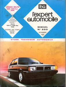 Style De Mode Rta Revue Technique Expert Automobile N° 203 Lancia Delta 1300 1500 1600 Service Durable