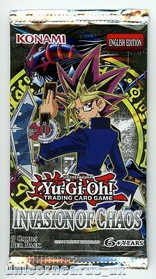 YuGiOh! Invasion of Chaos New and Sealed YuGiOh Booster Pack