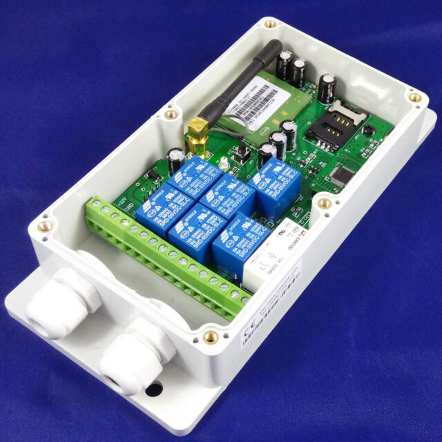 2G GSM Remote Control Relay - 7 Relays - Europe - DC Powered