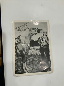 Roy Rogers And Trigger Autographed Photo
