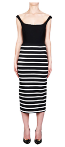 NICHOLAS THE LABEL RIVIERA STRIPE LONG PENCIL SKIRT BRAND NEW WITH TAGS RRP  220