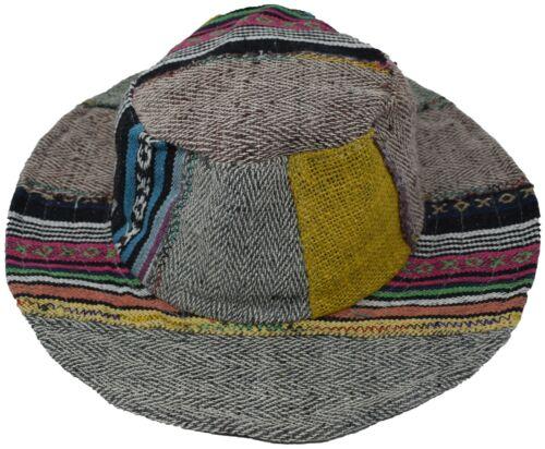Hemp Cotton Straw Sun Hat Panama Wide Brim Summer Holiday Light Colorful Rainbow