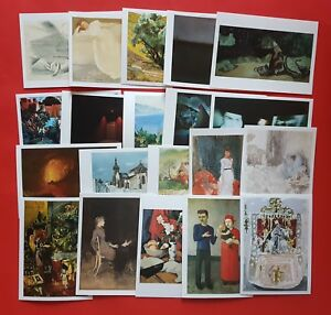 Set-of-20-Different-Art-Postcards-Whistler-Fry-Wood-Corinth-Gertler-Peploe