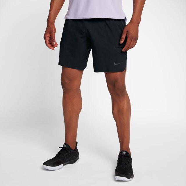 Nike NikeCourt Flex Ace 9 Tennis Herren SchwarzWeiß Kurze Hosen