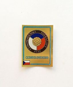 Panini-Euro-84-1984-Ceskoslovensko-Badge-Number-232-With-Original-Back