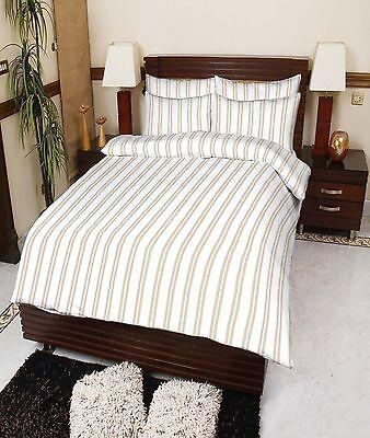"""""""Stockholm"""" Flannelette Duvet Quilt Cover & Fitted Sheet  , Complete Bedding Set"""