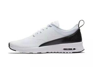detailing 86b45 9c680 Image is loading Nike-Air-Max-Thea-599409-111-White-Black-