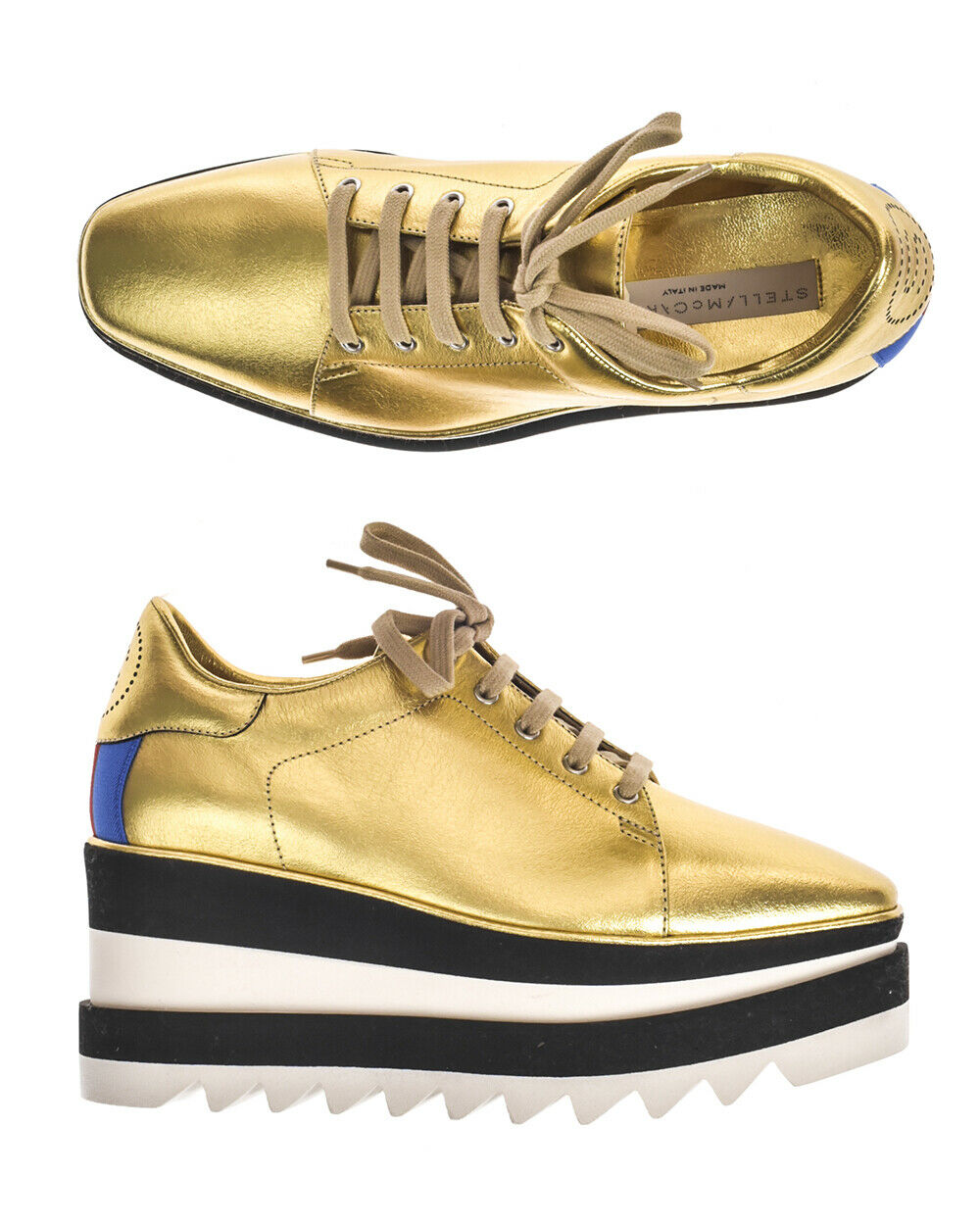 Stella McCartney scarpe da ginnastica ELYSE Donna oro 478958W1C3 8095  S36,5 MAKEOFFER  elementi di novità