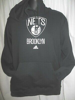 Fan Apparel & Souvenirs Brooklyn Nets Men's Adidas Hooded Pullover Sweatshirt Good For Antipyretic And Throat Soother