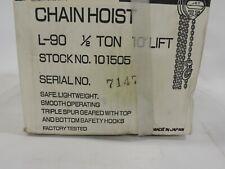 Jet L100 50 10 12 Ton Hand Chain Hoist 10ft Lift
