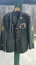 US Army Class A 42 Short Military Dress Jacket Uniform Shirt Pants Decorated