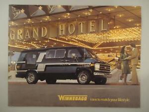Vtg RARE Winnebago Conversion Custom Van Creppy Catalog Brochure Chevy