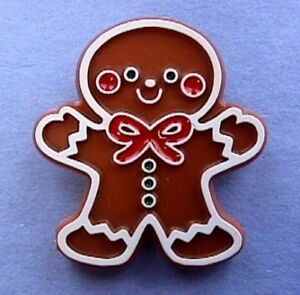 Hallmark-PIN-Christmas-Vintage-GINGERBREAD-MAN-COOKIE-Boy-Holiday-Brooch