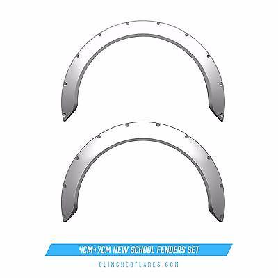 Clinched 4cm + 7cm JDM Fender Flares set