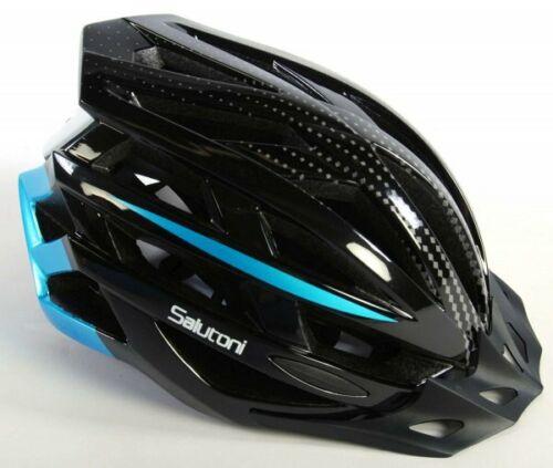 Salutoni Herren Fahrradhelm Schwarz Blau 58-61 cm