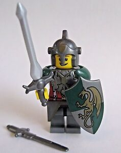 Lego custom knight paladin dragon templar minifigure w weapons and image is loading lego custom knight paladin dragon templar minifigure w publicscrutiny Gallery
