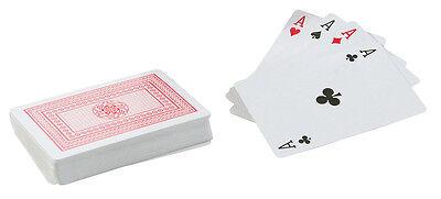 Adattabile I Ponti Di Professional Classico In Plastica Rivestito Carte Da Gioco Poker Size-rosso-mostra Il Titolo Originale
