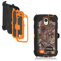 OtterBox Defender Galaxy S4 Case & Holster RealTree Camo Xtra Blazed Orange OEM