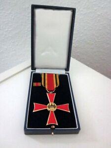 Orden, Kreuz, Adler, BRD Schwarz Rot Gold, Bandspange, Etui mit Adler, Militaria
