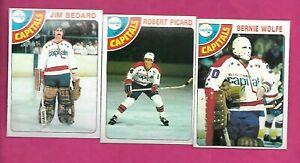 1978-79-TOPPS-CAPITALS-BEDARD-RC-PICARD-RC-WOLFE-NRMT-INV-C1704