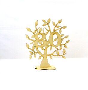 Jubiläums Baum zum 80 Geburtstag aus Holz, 28 cm,Geschenk, Lebensbaum