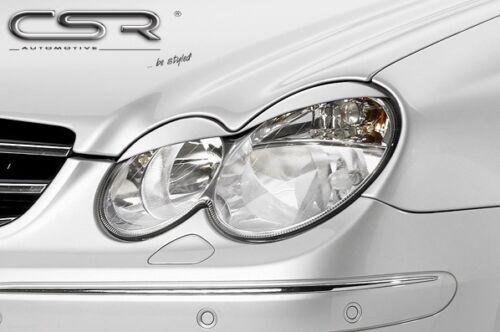 CSR Scheinwerferblenden für Mercedes CLK W209 Coupe Cabrio Böser Blick Blenden S