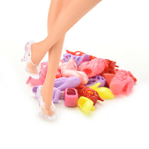 12-Pair-Fashion-Doll-Shoes-Heels-Sandals-For-Dolls-Outfit-Dress-SEAU