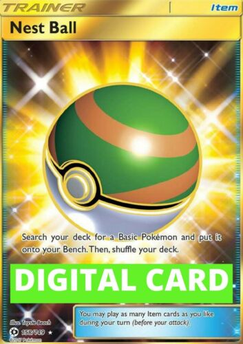 PTCGO DIGITAL CARD Nest Ball SR 158//149 Pokemon TCG Online SENT FAST