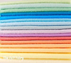 Wool-Blend-Felt-Colour-Collections-16-Sheets-16-Colours-Pack-9-x-4-5-inch