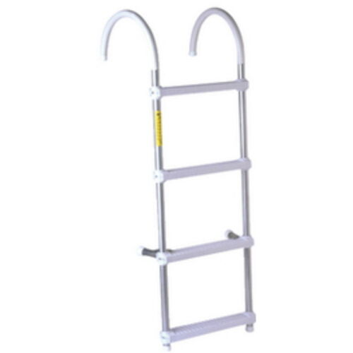 4 Step Over Gunwale Aluminum Boarding Ladder for Boats
