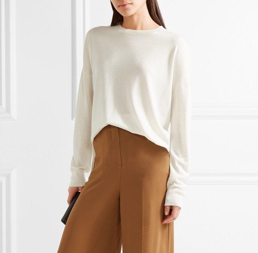 NWT Theory Karenia Wool Knit Sweater Ice White (Ivory) Size Size Size S, M  265 cc9091