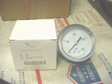 "NEW  0-400 PSI PRESSURE GAUGE 2 1/2"" AIR OR HYDRAULIC GAGE 1/4"" NPT THREADS"