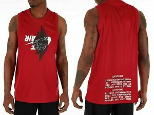Nike-Men-039-s-Large-Air-Jordan-Jumpman-Classic-Wings-Tank-Top-Jersey-Red-New-70