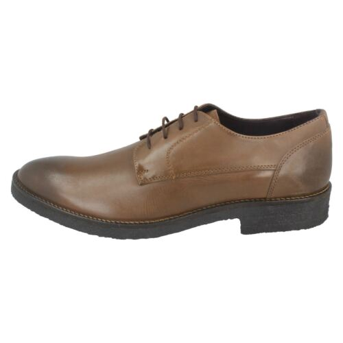 M Leather Lambretta Mens Dark Shoes 81 Brown Lace up z7qPw0q