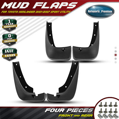 Mud Flaps Splash Guards for Toyota Highlander 2001-2007