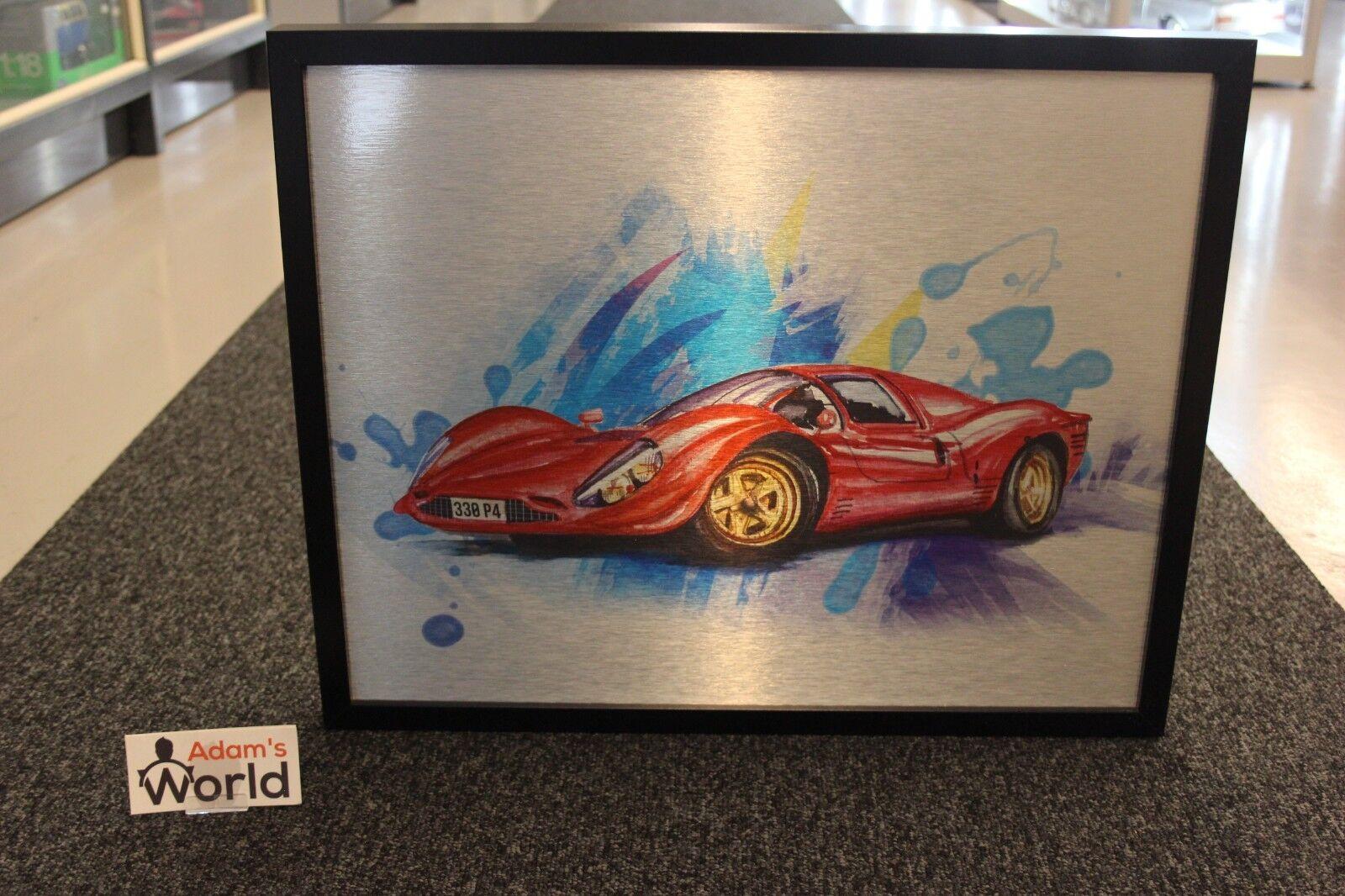 Halmo inramat tryck på aluminium, Ferrari 330 P4 (50 x 40 cm)   99 pcs