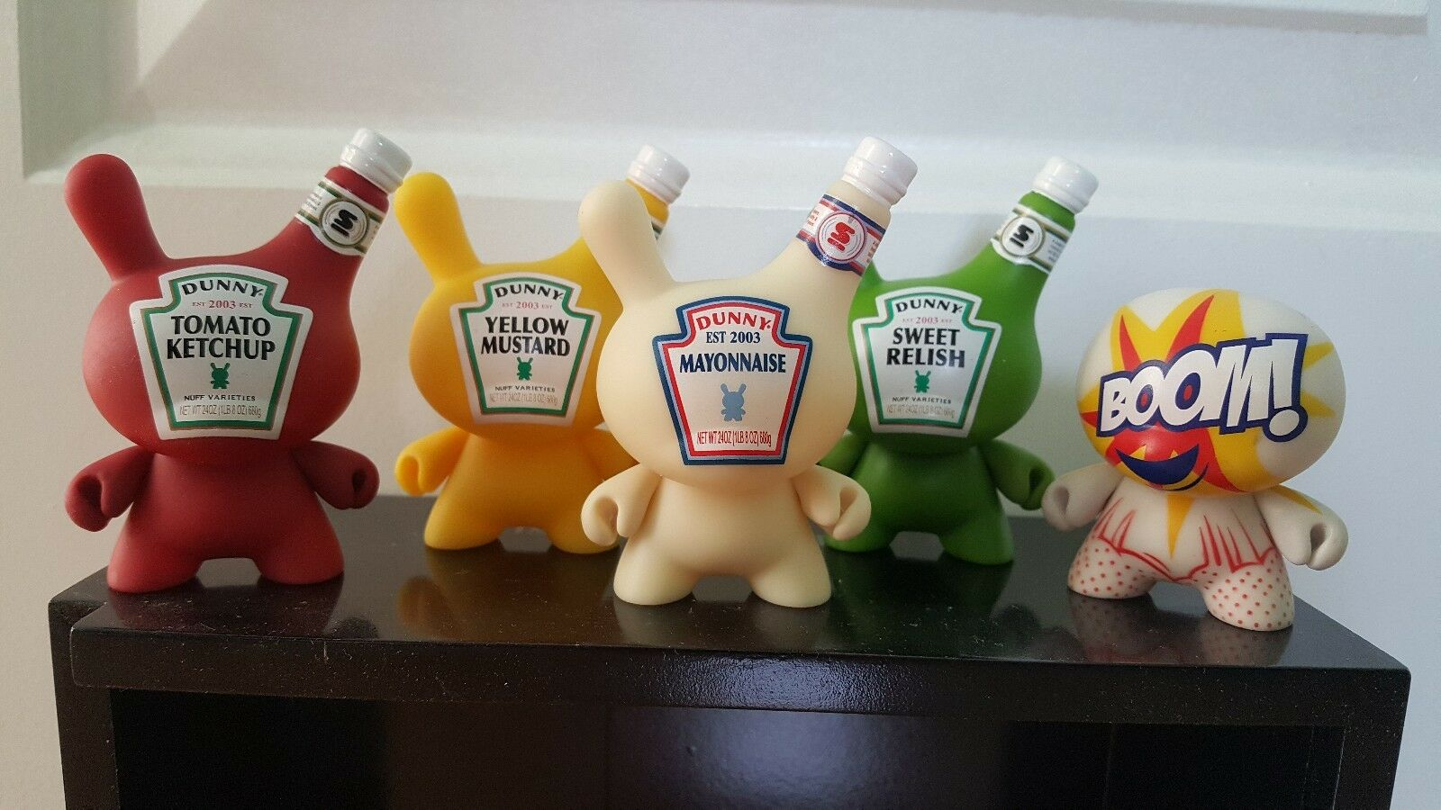 Dunny 2010 - Sket One Condiment Condiment Condiment 3  AP SET - Ketchup, Relish, Mustard, Mayo, Pop a6909c