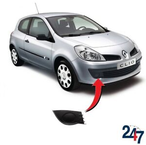 NEW-RENAULT-CLIO-2005-2009-FRONT-BUMPER-FOG-LIGHT-COVER-GRILL-TRIM-RIGHT-O-S