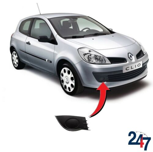 NEW RENAULT CLIO 2005-2009 FRONT BUMPER FOG LIGHT COVER GRILL TRIM RIGHT O//S