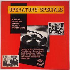 OPERATORS SPECIALS: 16 Jukebox Western Swing Hits IMPORT Vinyl LP NM- UK