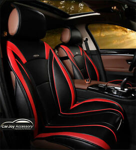 Image Is Loading Best Black Red Trim Car Seat Cover Volkswagen