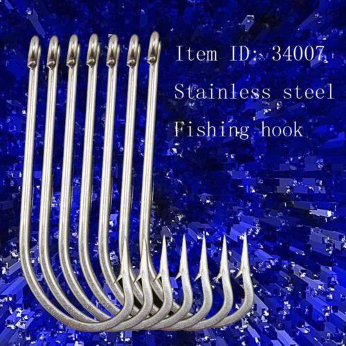 20pcs 34007 O/'shaughnessy Long Shank Hook Saltwater Stainless Steel Fishing Hook