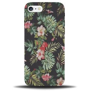 Palmier-Hawaien-Telephone-Etui-Housse-Arbres-Fleuri-Fleurs-Rose-Lei-a890