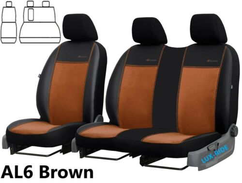FIAT DUCATO 2007-2014 ECO LEATHER /& ALICANTE TAILORED FRONT SEAT COVERS