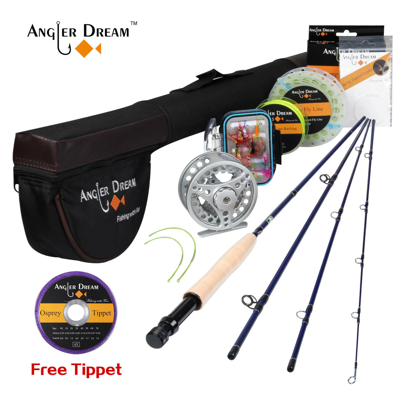 Fly Fishing Combo  Rod Fly Reel Line 8'4 9' 3 5 WT Large Larbor Reel For Begainer  leisure