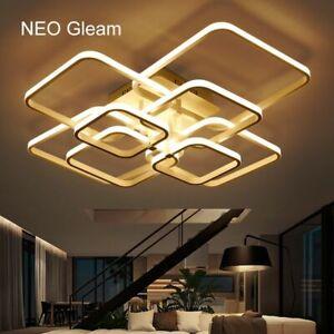 Large Rectangular Ceiling Led Light Lamp Modern Designer Lights Living Room | EBay