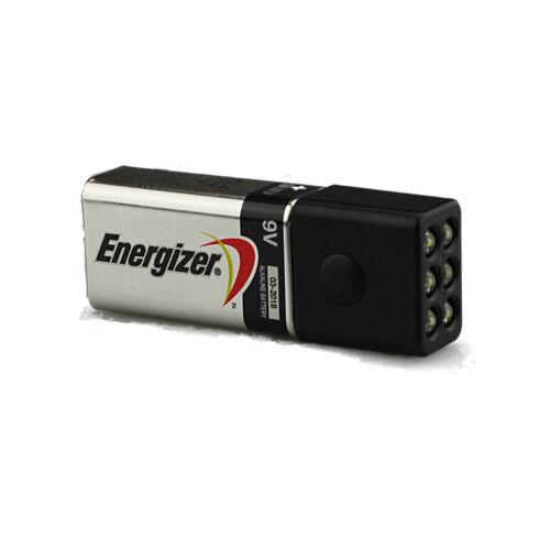 Blocklite 6 DEL Mini Lampe de poche avec Energizer 9 V Batterie étonnamment Bright