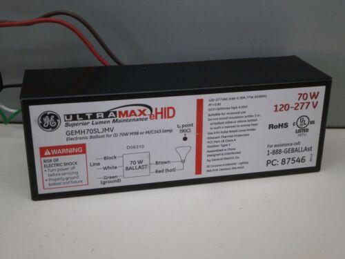 GE GEMH70SLJMV Electronic Metal Halide Ballast for 1 70W M143 M98 MH Lamp